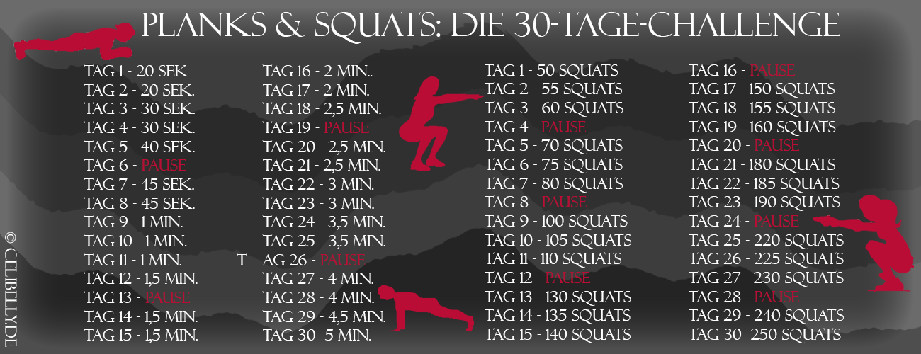training planks squats